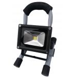 COB LED lempa įkraunama, 10W, 900 Lumenų, pasukama, su stovu (SK4014)