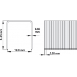 Kabės kabiamūšiui YT-0920, 25/12,8 mm x 1000vnt. (YT-0932)