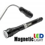 Teleskopinis Magnetinis Žibintuvėlis su stipriais 3 LED diodais (QJPU-46)