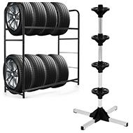 Padangų / ratų transportavimo vežimėliai / stovai / laikikliai