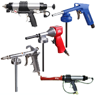 Pneumatiniai silikono / germetiko / gravitexo pistoletai