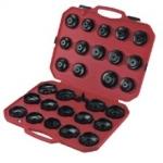 Tepalo filtro raktų- lėkštelių rinkinys su reguliujamu trikoju raktu 30vnt (H2071701)