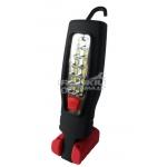 Darbo lempa įkraunama, su didelio skaidrumo polikarbonato lęšiu COB LED, 3.7v2200ma NiMh baterija 210LM