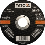 Metalo pjovimo diskas | 125x1,2x22 mm (YT-5923)