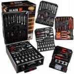 Įrankių rinkinys aliuminiame lagamine | terkšliniai raktai | su ratukais | 188 vnt. BLACK (18600)