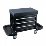 Įrankių spintelė / kėdutė su 3 stalčiais ir atlenkiamais 2 dėklais / lentynomis (V7031)