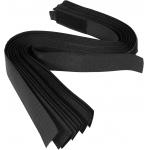 Dirželiai laidams su velcro | juodi | 450 mm / 10 vnt. (73855)