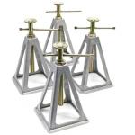 Atramų rinkinys | lietas aliuminis | 275 - 425 mm / 2.8 t | 4 vnt. (CAS04)