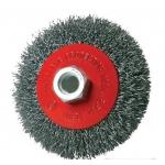 Šepetys vielinis lėkštės tipo | pilkas | 100 mm | M14  (ES733100P)