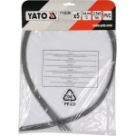 Plastiko suvirinimo juosta | polivinilchloridas (PVC) | 2.5X5 mm | 5х1m / 5 vnt. (YT-82306)
