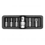 "Antgalių komplektas | 10 mm (3/8"") | Spline (XZN) | 6 vnt. (YT-0414)"