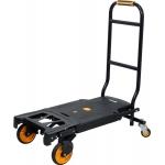 Sulankstomas transportavimo vežimėlis | 2 viename | keliamoji galia 130 kg (78663)