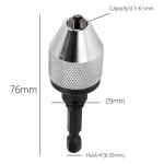 """Griebtuvas grąžtams 0.3 - 5 mm su 1/4"""" (6.3mm) antgaliu (SK19262)"""