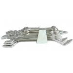 Plokščių raktų rinkinys atviru galu 10 vnt, 6-32 mm (50610)