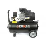 Oro kompresorius 50L, 1 cilindras ERMAN 2,5kW (EM2550V)