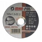 Pjovimo diskas metalui 125x1,2x22,23 mm (M08115)