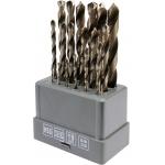 Grąžtų metalui rinkinys HSS | 1-10 mm | 19 vnt. (SK38214)