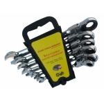 Terkšlinių raktų rinkinys šarnyriniai 8-19 mm, 6 vnt. (ER-1206)