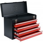 Metalinė įrankių dėžė, tuščia | 4 stalčiai (YT-08874)