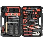 """Įvairių įrankių rinkinys   su gulščiuku   6.3 mm (1/4"""")   88 vnt. (YT-38928)"""