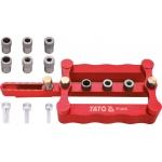 Universalus įrenginys, skirtas nustatyti skyles elementų prijungimui 6, 8, 10 mm (YT-44120)