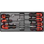 Įrankių rinkinys į vežimėlius-plokšti atsuktuvai 7vnt. (YT-5535)