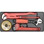 Įrankių rinkinys santechnikai su padėklu Nr.1 (YT-55480)
