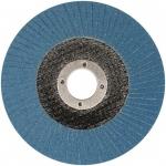 Šlifavimo diskas lapelinis išgaubtos formos ZIRCONIUM INOX P100 125X22,2mm (ES815100)