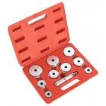 Tepalinių guolių/riebokšlių/sandarinimo žiedų presavimo komplektas 40-81 mm, 10 vnt. (H2010)