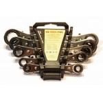 Kombinuotų raktu rinkinys su terkšle (6-22mm) 5vnt.(M58600)