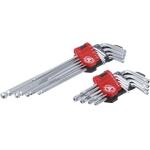 L tipo raktų rinkinys | ilgi | T-Star (Torx) T10 - T50 / Hex šešiakampis 1,5 - 10 mm | 18 vnt. (822)