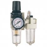 "Oro srauto reguliatorius 1/4"" su filtru ir tepaline (AC201002)"