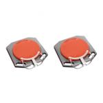 Pasukimo lėkščių ratų suvedimui rink. (2vnt) (raudonos) (PLFS50RT)