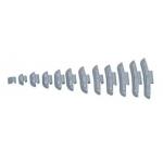 Svareliai balansavimui kalami (100vnt) 20g +/- 1g (YSFEAL2120)