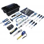 Įrankių nešiojimo dėklas | sustiprintas plastikas | įsk. įrankių asortimentas | 66 vnt. (70224)