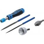 Įrankis šerpetų pašalinimui su dildelių rinkiniu | Išorinis / vidinis | 5 vnt. (6773)