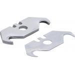 Trapecinių peiliukų rinkinys rinkinys | 19 mm | 5 vnt. (97976)